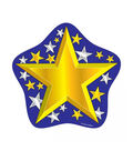 Colorful Cut Outs 36/pk, Stars Single Design Set Of 6 Packs