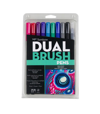 Tombow Dual Brush Markers 10/Pkg-Galaxy