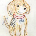 Penguin & Fish 8\u0027\u0027 Round Embroidery Wall Art Kit-Beagle