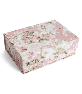 Organizing Essentials Large Tab Box-Floral