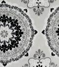Sew Lush Fabric -Gray Medallions