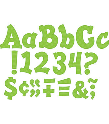"""Green Sassy Solids 5"""" Letters"""