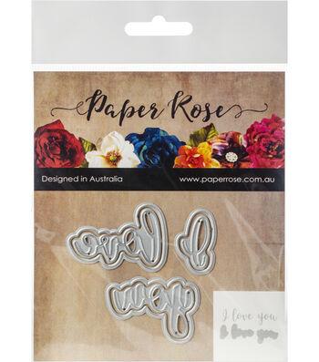 Paper Rose 2 pk Layered Metal Dies-I Love You