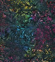 "Legacy Studio Batik Cotton Fabric 43""-Multi Floral Navy, , hi-res"