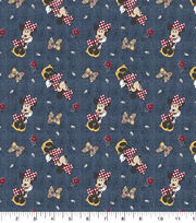 Minnie Mouse Flannel Fabric-Floral Allover, , hi-res