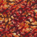 Harvest Cotton Fabric-Packed Leaf Vines on Brown