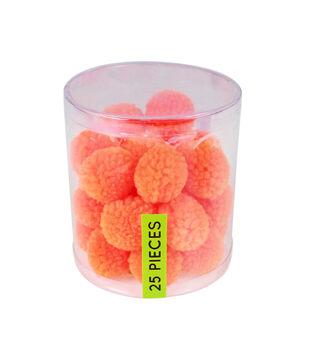 Fab Lab Yarn Pom Poms 25/Pkg-Orange