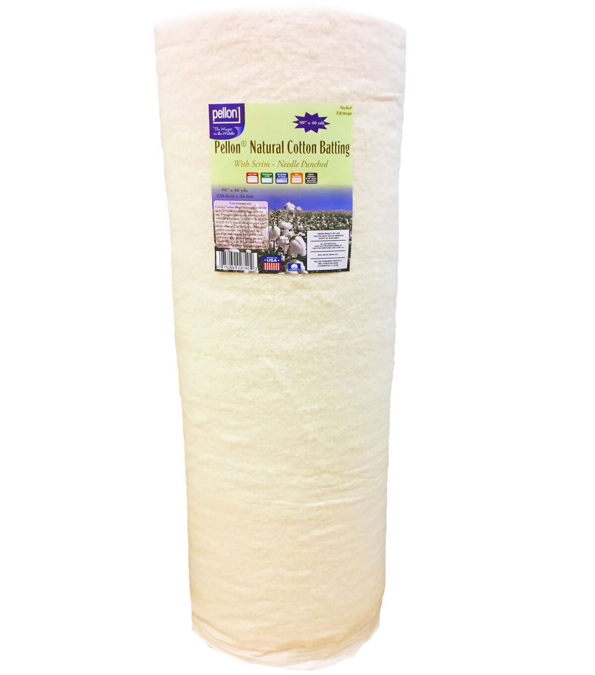 Purely Natural All Season Quilt Batting by The Roll King Size Applique Low Loft Fabric for Quilting Angel Crafts and Sewing Cotton Batting for Quilts Upholstery 124 by 120 inches Pillows