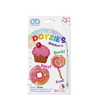 Diamond Dotz Dotzies 3 Stickers Multi Pack-Yum