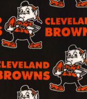 Cleveland Browns Fleece Fabric -Retro, , hi-res
