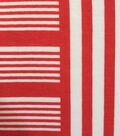 Endless Sea Knit Fabric 57\u0027\u0027-Coral & White Stripe Block