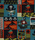 Snuggle Flannel Fabric -Pirate Ship Patchwork