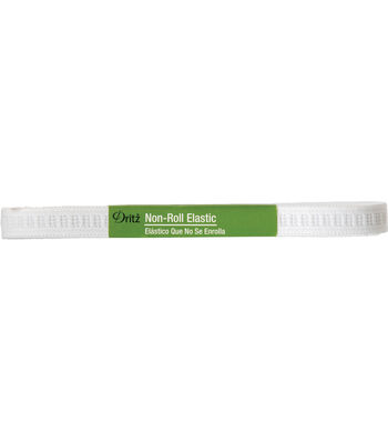 "Dritz Non-Roll Elastic White 1/2"" x 4 Yards"