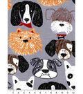 Snuggle Flannel Fabric 42\u0027\u0027-Sketched Dog Faces
