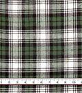 Plaiditudes Brushed Cotton Fabric 44\u0022-Green White Yellow