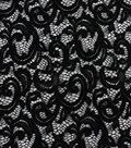 Stretch Knit Lace Fabric 57\u0027\u0027-Black