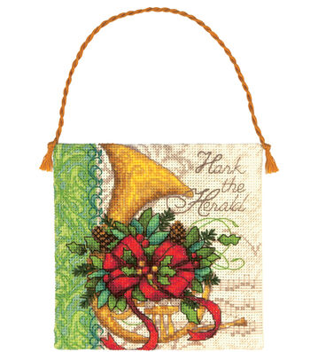 Dimensions Gold Petite Counted Cross Stitch French Horn Ornament
