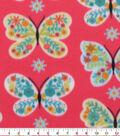 Blizzard Fleece Fabric-Patterened Butterfly