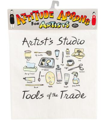 Attitude Artist Apron Natural-Artist's Studio