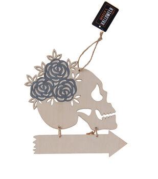 Maker's Halloween Craft 7.67''x0.2'' Skull Rose Head with Arrow