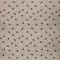 Super Snuggle Flannel Fabric-Cardinals On Vine Cream