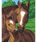 Paint By Number 8\u0022X10\u0022-Pony&Mother