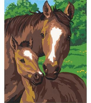 """Paint By Number 8""""X10""""-Pony&Mother"""