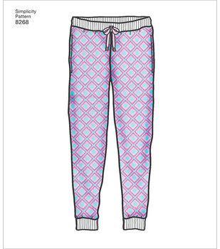 Simplicity Pattern 8268 Children's Teens & Adults Jogger-Size A (XS-XL)