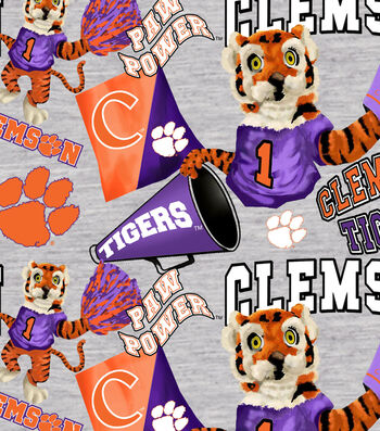 Clemson University Tigers Cotton Fabric-Collegiate Mascot
