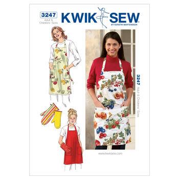 Kwik Sew Pattern K3247 Mother & Daughter Aprons