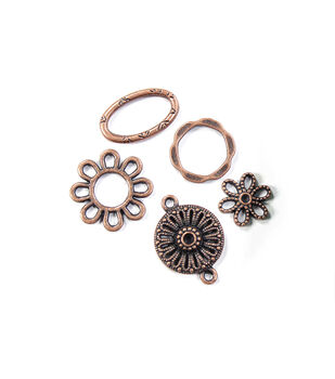 Blue Moon Findings Connector Metal Assorted Design Oxidized Copper
