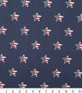 Patriotic Cotton Fabric 44\u0022-Flag In Star