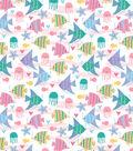 Snuggle Flannel Fabric-Sea Friends