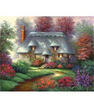 "Acrylic Painting Masterpiece Set 11""x14""-Romantic Cottage"