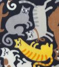 Anti-Pill Fleece Fabric 59\u0022-Puzzle Cats