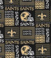 New Orleans Saints Cotton Fabric -Patch, , hi-res