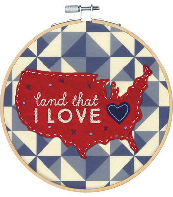 Americana Stitch Kit-Land That I Love