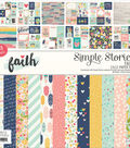 Simple Stories Faith 48-sheet 12\u0027\u0027x12\u0027\u0027 Single-sided Paper Pad