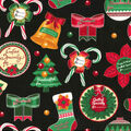 Christmas Cotton Fabric-Handcrafted Holidays