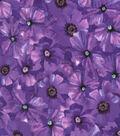 Keepsake Calico Cotton Fabric-Poppy Toss Purple