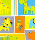Nursery Cotton Fabric -Zoo Animals