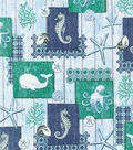 Indigo Sea Sealife Cotton Fabric