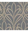 Lalique Silver Nouveau Damask Wallpaper Sample