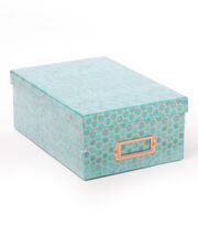 DCWV Photo Storage Box-Copper Foil Hexagons on Blue, , hi-res