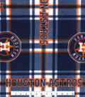 Houston Astros Fleece Fabric -Plaid