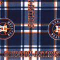 Houston Astros Fleece Fabric-Plaid