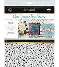 Deco Foil 4 pk 8.5\u0027\u0027x11\u0027\u0027 Clear Designer Toner Sheets-Branching Out