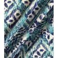 Knit Fabric 57\u0027\u0027-Aqua & Navy Ethnic Diamond