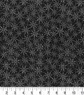 Halloween Cotton Fabric 43\u0022-Black Linked Spider Webs