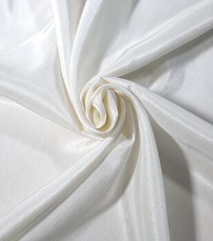 Save The Date Dupioni Fabric 58''-Bright White